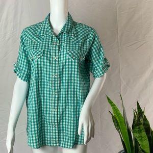 Wrangler vintage short sleeve western shirt
